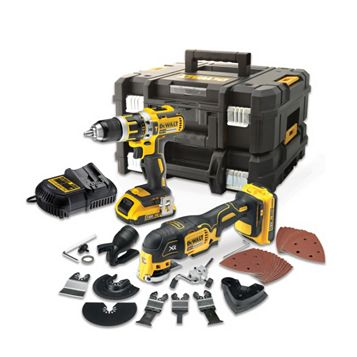 DeWalt Li-Ion Combi Drill & Multi Cutter Twin Pack DCK257D2T-GB