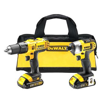 DeWalt 18V Li-Ion Hammer Drill Driver & Impact Driver Twin Pack 2 Batteries DCZ298C2-GB