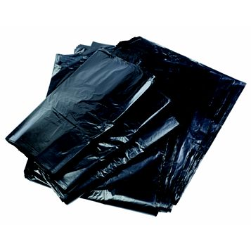 Black Recycled Polythene Refuse Sack, Pack of 2000