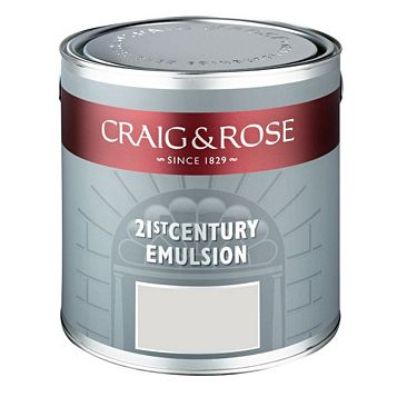 Craig & Rose Flat Matt Emulsion Paint Dutch White, 2.5L