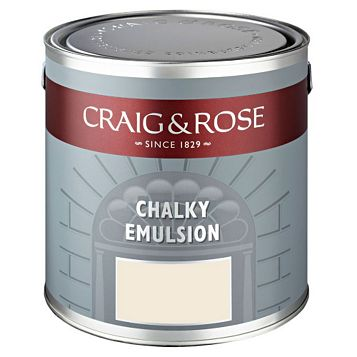 Craig & Rose Authentic Period Colours Alabaster Flat Matt Emulsion Paint 2.5L