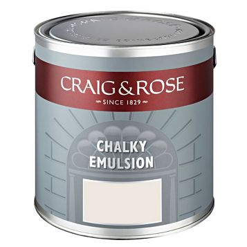 Craig & Rose Authentic Period Colours Chinese White Flat Matt Emulsion Paint 2.5L