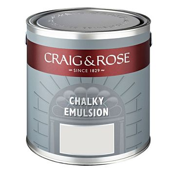 Craig & Rose Authentic Period Colours Pantry White Flat Matt Emulsion Paint 2.5L