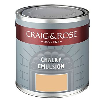 Craig & Rose Authentic Period Colours Tang Yellow Matt Emulsion Paint 2.5L
