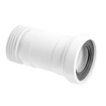 McAlpine WC-F23R White Pan Connector (Dia)97/107mm (L)430mm