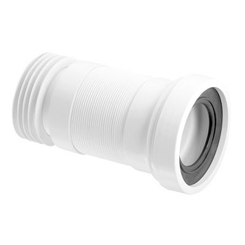 McAlpine WC-F26R White Pan Connector (Dia)97/107mm (L)610mm