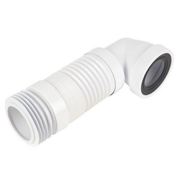 McAlpine WC-CON8F White Pan Connector (Dia)110mm (L)340mm (D)133mm