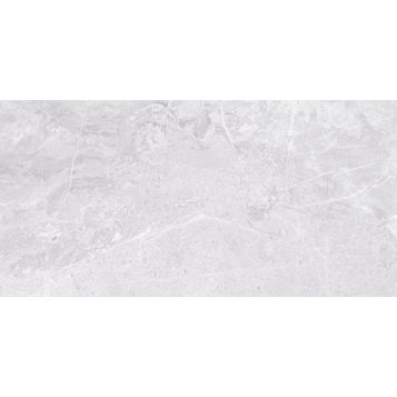 Silverthorne Marble Mist Stone Effect Ceramic Wall Tile, Pack of 8, (L)248mm (W)498mm