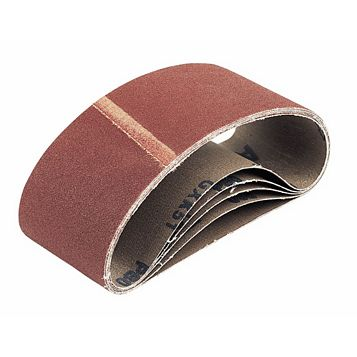 75mm x 457mm 60 Grit Cloth Sanding Belt, Pack of 5