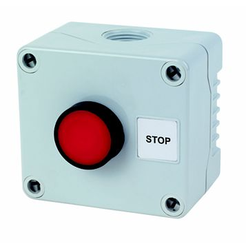 Hylec 1-Way Grey Push Stop Push Switch