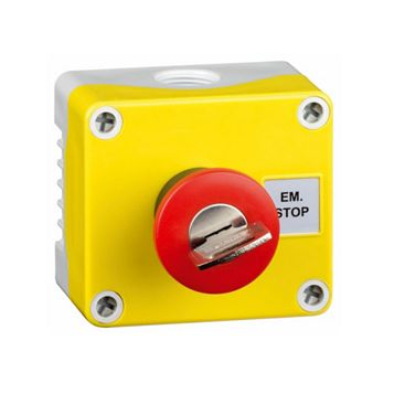 Hylec Yellow A-Lock Push Button Switch with Key Reset