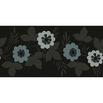 Arthouse Bloom Black Floral Border