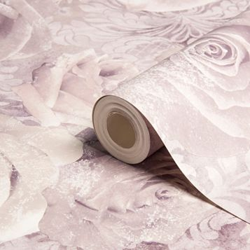 Reverie Floral Mauve & Purple Wallpaper