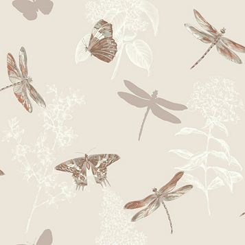 Enchanted Wings Insects Glitter Wallpaper