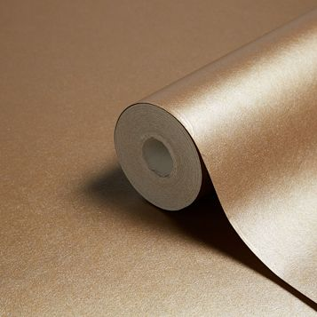 Leonardo Gold Leaf Plain Metallic Wallpaper
