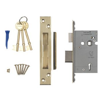 Smith & Locke 64mm Stainless Brass 5 Lever Mortice Sashlock