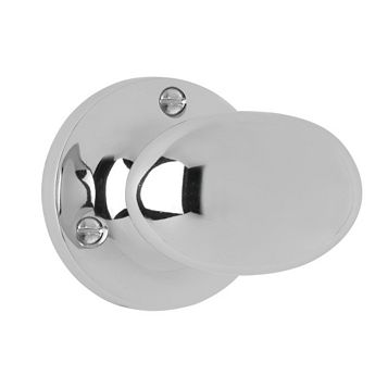 Smith & Locke Oval Polished Chrome Effect Mortice Knobs, Pair