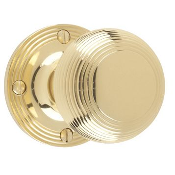 Carlisle Brass Polished Rimmed Mortice Knobs, Pair
