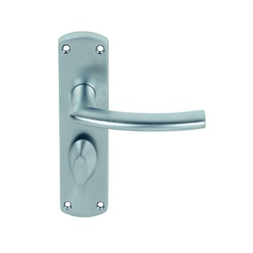 Smith & Locke Dos Satin Chrome Effect WC Lever Door Handles, Pair
