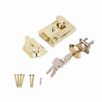 Smith & Locke 60mm Brass Effect Traditional Night Latch TRAD-BRS-60