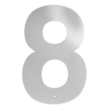 Polished Stainless Steel Door Numeral 8