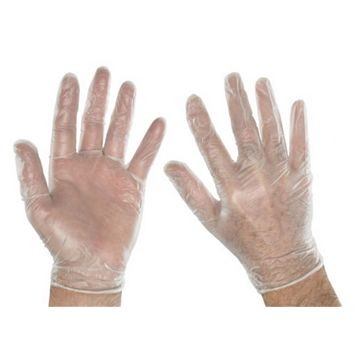 Vinyl Ambidextrous Disposable Gloves, Pack of 100