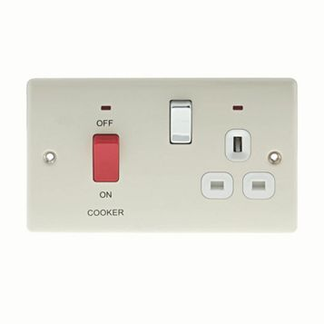 2 45A Cooker Switch & Socket