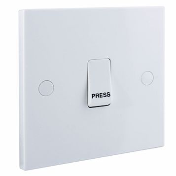 British General 1-Gang 2-Way 10AX White Retractive Switch