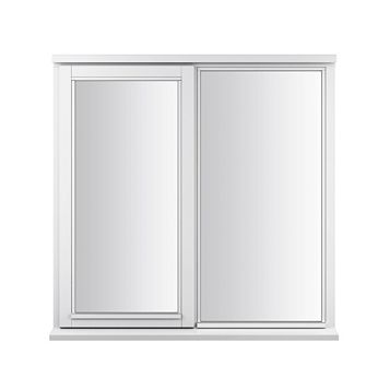 Glazed White Painted Timber Side Hung & Top Hung Casement Window (H)1195mm (W)1045mm