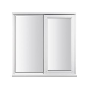 Glazed White Painted Timber Side Hung Casement Window (H)1195mm (W)1045mm