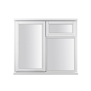 Glazed White Painted Timber Side Hung & Top Hung Casement Window (H)1195mm (W)1195mm