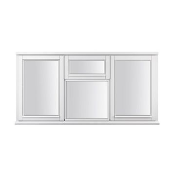 Glazed White Painted Timber Two Side Hung Casement Window (H)1795mm (W)1045mm