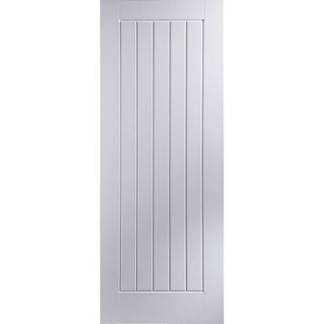 Cottage Panelled Pre-Painted White Internal Door, (H)1981mm (W)762mm