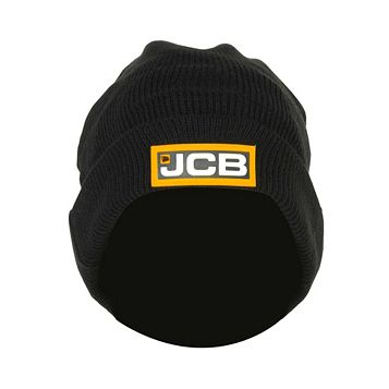 JCB Black Knitted Hat One Size