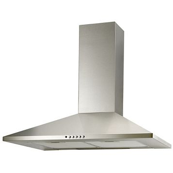 Cooke & Lewis CLCH60SS-C Chimney Cooker Hood, Stainless Steel