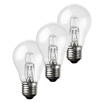 Diall Screw Holder(E27D) 42W Halogen A55 Light Bulb, Pack of 3