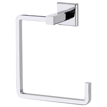 Cooke & Lewis Linear Chrome Effect Towel Ring, (W)150mm