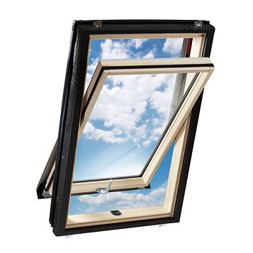 Geom Luna Pine Centre Pivot Roof Window 980 x 540 mm