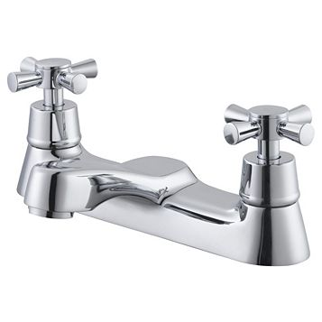 Plumbsure Crystal Chrome Bath Mixer