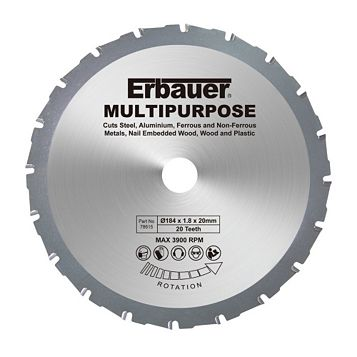 Erbauer 20T Multipurpose Blade (Dia)184mm