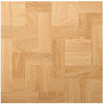 B&Q Natural Wood Effect Self Adhesive Vinyl Tile 1.02m² Pack