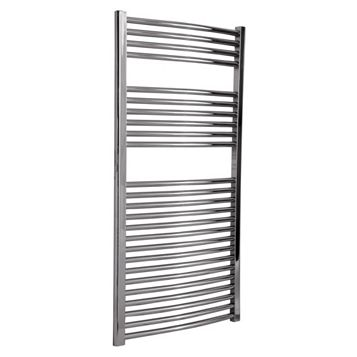 Flomasta Silver Towel Radiator (H)1200 (W)600 mm