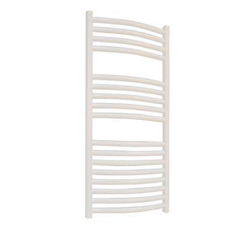 Flomasta Curved Towel Radiator White Powder Coated (H)900 (W)450mm