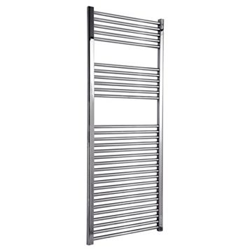 Flomasta Silver Towel Radiator (H)1500 (W)600 mm