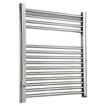 Flomasta Flat Towel Radiator Silver Chrome (H)700 (W)600mm
