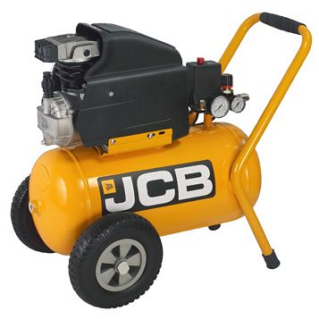 JCB 24L Compressor Inflating Pistol with Pressure Gauge, Three Inflation Nozzles & A 3M Spiral Hose JCB-AC24
