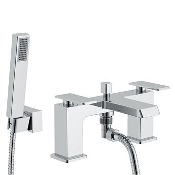 Cooke & Lewis Harlyn Chrome Bath Shower Mixer Tap