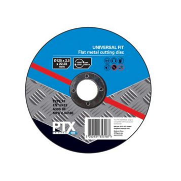 PTX (Dia)125mm Flat Metal Cutting Disc