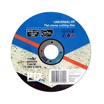 PTX (Dia)125mm Flat Stone Cutting Disc