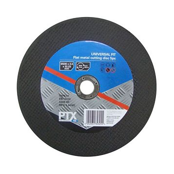 PTX (Dia)230mm Flat Metal Cutting Disc, Pack of 5